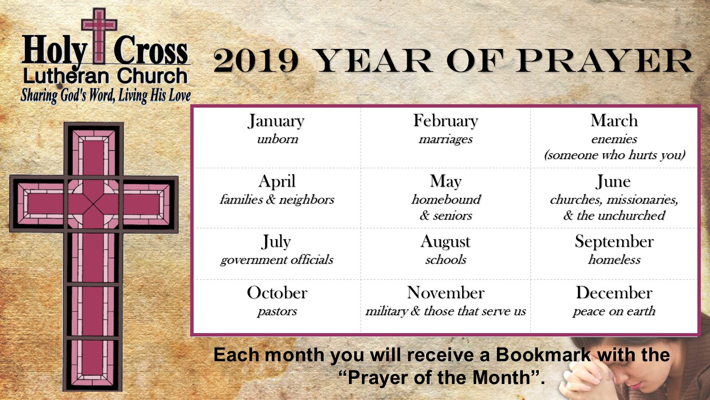 2019 Year of Prayer