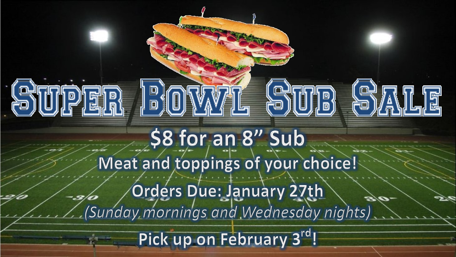 Super Bowl Sub Sale